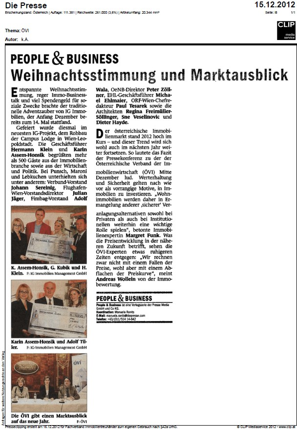 presse artikel people and business